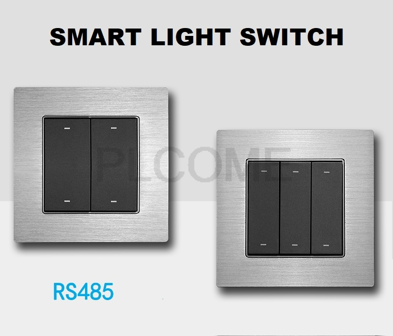 Smart Light Switch Wall Switches RS485 Touch Button aluminum alloy for Smat Home LED Lighting Wall