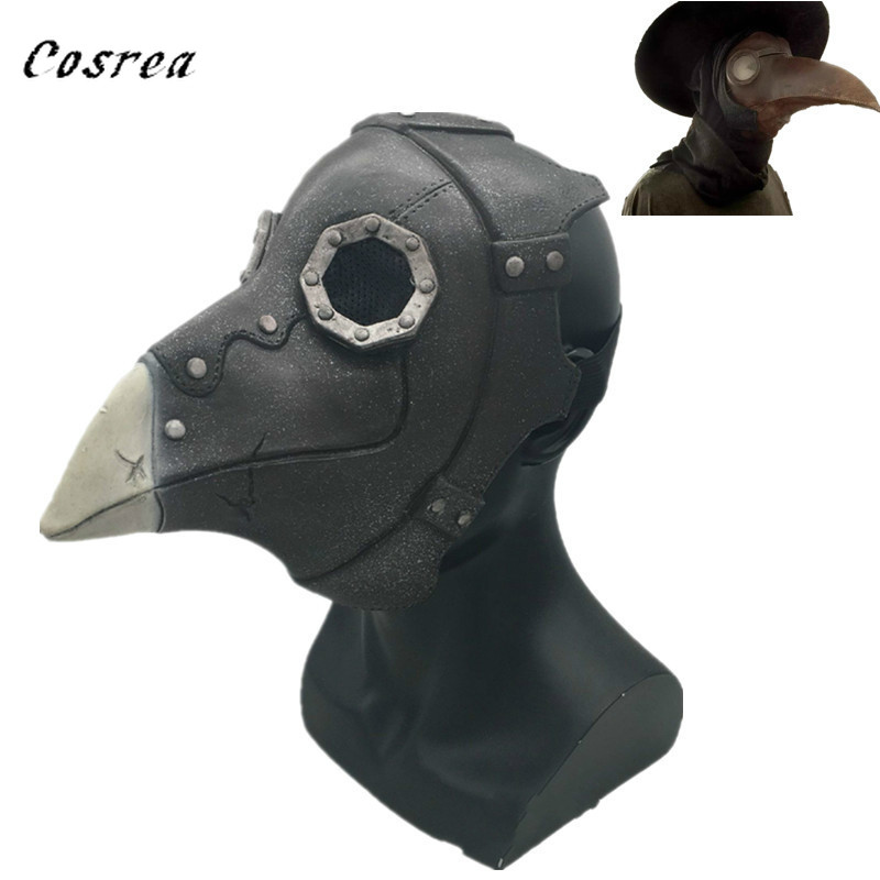 Punk Retro Schnabel Plague Doctor Steampunk Bird Mask Cosplay Costumes Fancy Dress Halloween Party  Prop Kids Gift Toy