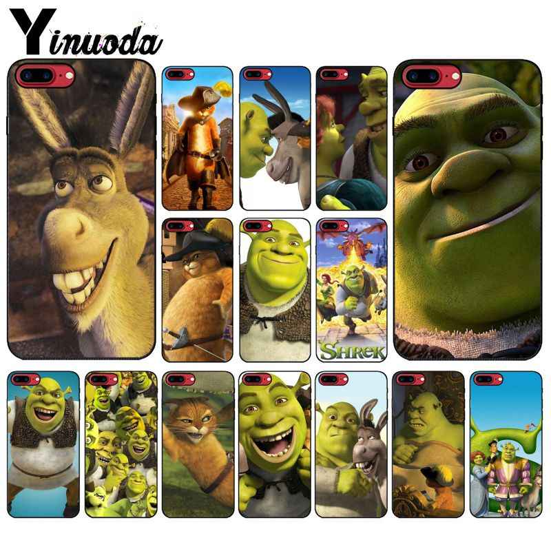 Yinuoda Stupid and lovely Shrek DIY Printing Drawing Phone Case cover Shell for Apple iPhone 8 7 6 6S Plus X XS MAX 5 5S SE XR