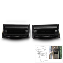 Brand New Universal Pair Safety Plastic Car Auto Seat Belt Seatbelt Clip Stopper Buckle Black