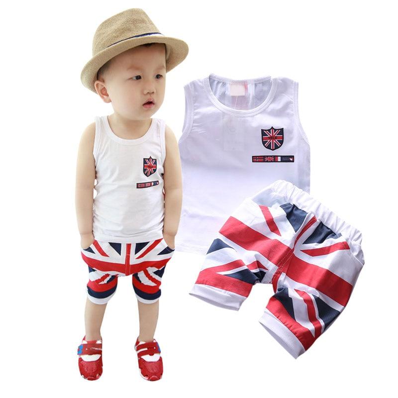c4c273be9c3e7 Nuevo bebé del niño Niñas algodón ropa superior + Pantalones cortos 2 unids  traje Sets L07