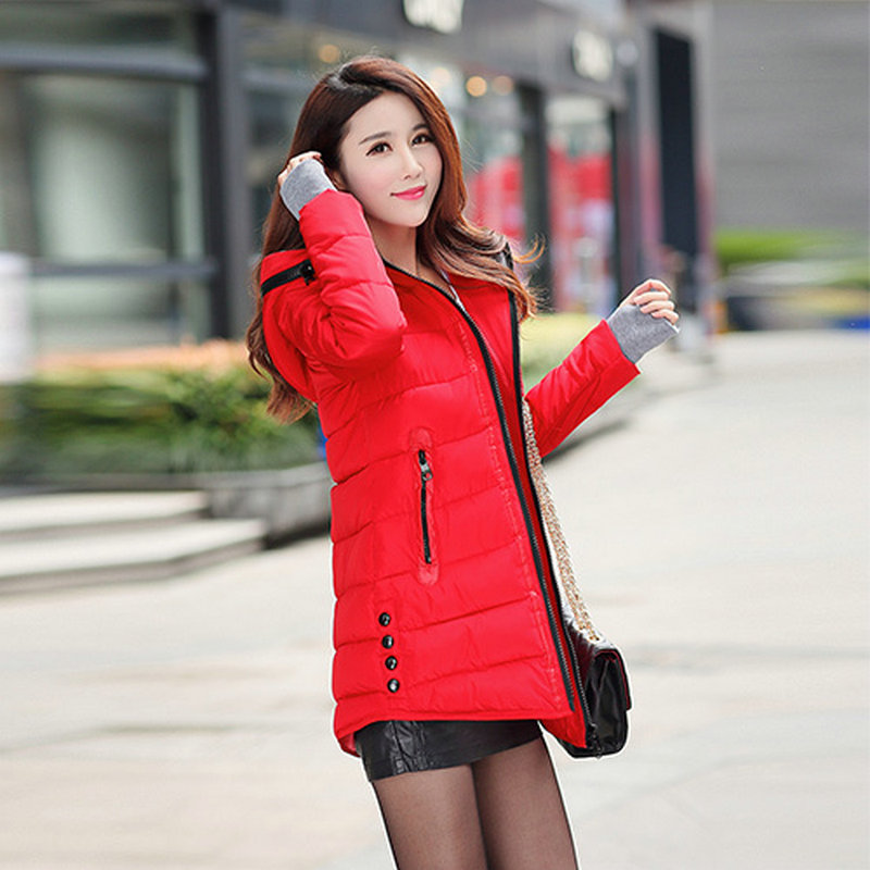 2015 winter jacket women wadded jacket female outerwear slim young lady winter coat women medium-long cotton-padded jacket parka winter cotton outerwear women super fur hooded wadded jacket female medium long padded coat thicken slim parka plus size