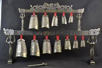 Brass Bells Chinese Tibet Dragon Glockenspiel Chimes In Ancient Chinese Musical Instrument Metal Handicraft