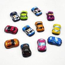6pcs/Set Baby Cars Toys Cute Mini Soft Plastic Pull Back Model Cars Wheels Car Model Funny Kids Toys for Boys Children Christmas