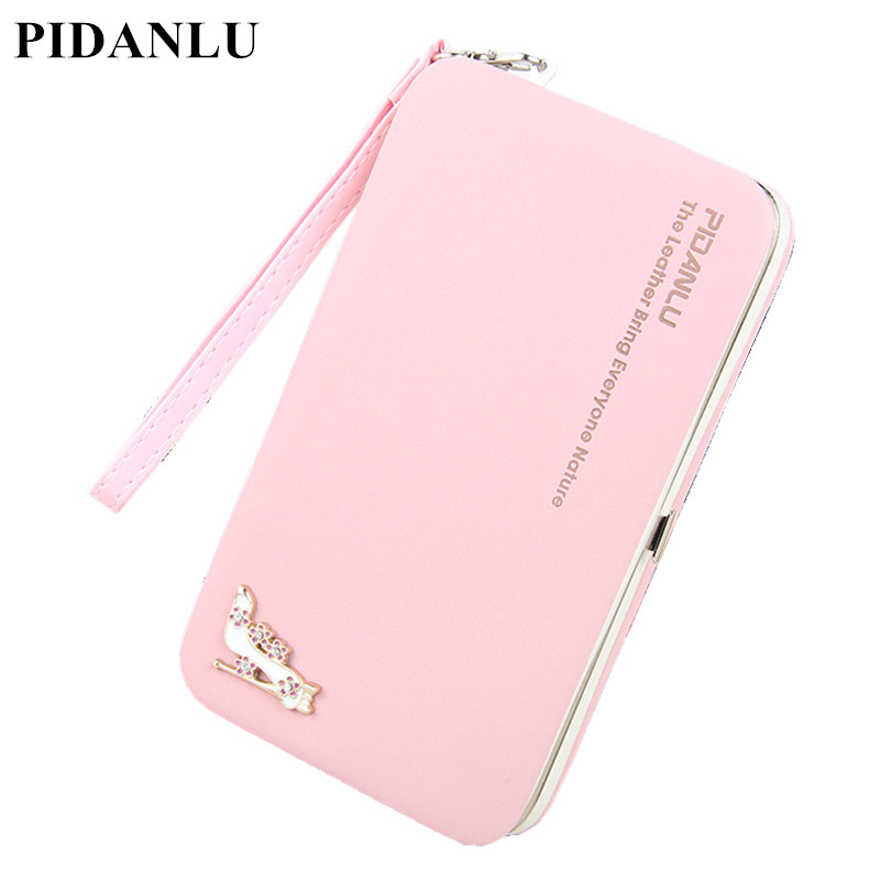 Luxury Brand Leather Wallets Women Fashion Long Hasp Purses Female Credit Card Holders Money Coin Zipper Pocket Phone Clutch Bag 2016 famous brand women clutch wallets top leather long coin purses lady card holder candy color hasp zipper girls phone handbag