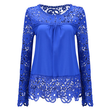 7XL Plus Size Tops Spring Summer White Blouses Women Shirts Lace Blouse Patchwork Loose Shirt Camisa Blusas Feminina 6XL 2
