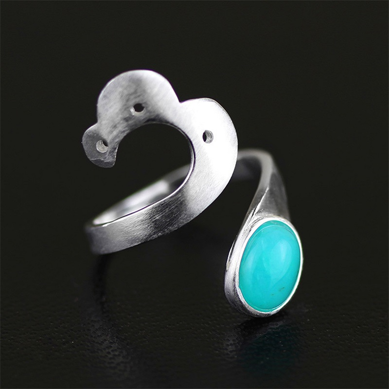 Lotus Fun Real 925 Sterling Silver Natural Stone Handmade Creative Designer Fine Jewelry Open Vintage Rings for Women Bijoux