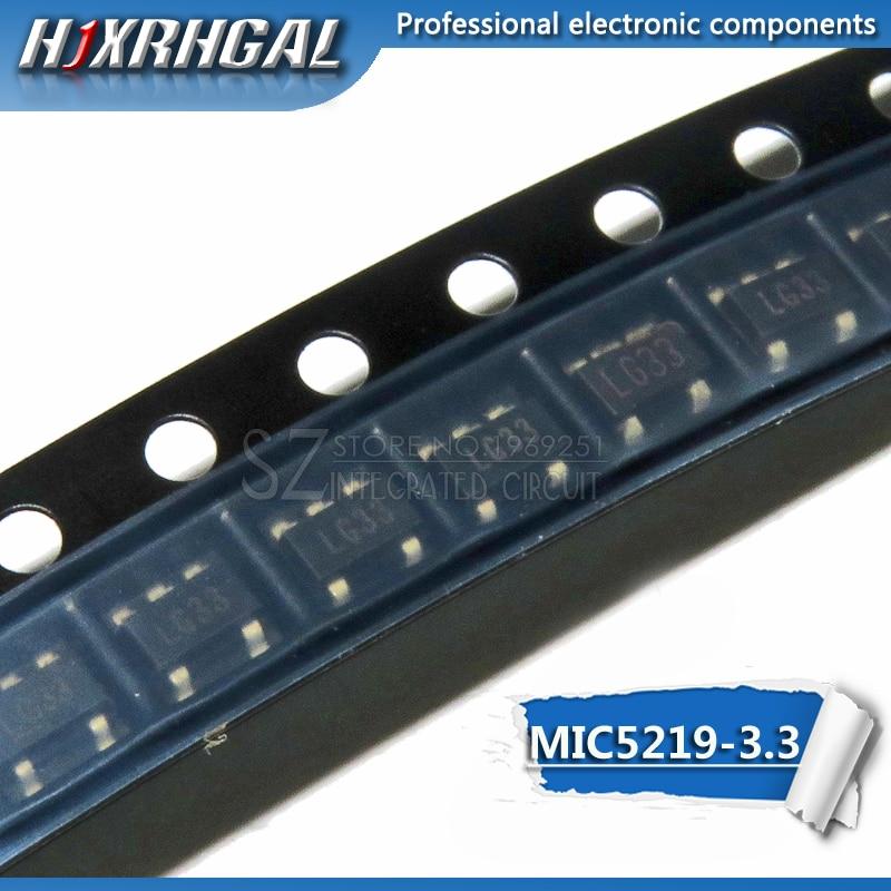 Tela 10pcs MIC5219-3.3BM5 SOT23 MIC5219-3.3YM5 LG33 SOT23-5