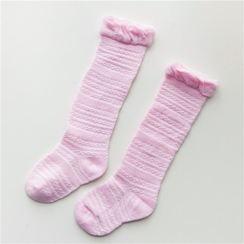 High Quality Toddler Kid Baby Girls Knee High Long Socks Bow Cotton Casual Stockings 0-3 Years