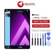 Хорошее AMOLED ЖК-дисплей для SAMSUNG Galaxy A5 2015 Дисплей A500FU A500 A500F A500M Сенсорный экран планшета замена для SAMSUNG Galaxy A5