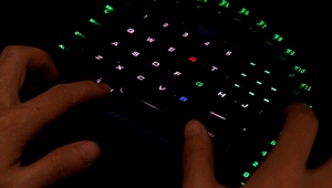 Image 5 - AULA Single Hand Macro RGB Backlit Mechanical Keyboard Blue Switch PUBG Game Gamer One Hand Split Mini Gaming Keyboards Computer