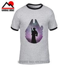 e1deb50e Star Wars in the Galaxy Princess Leia T shirts men Funny t-shirts millenium  falcon For Dad Birthday thanksgiving gift tee shirt