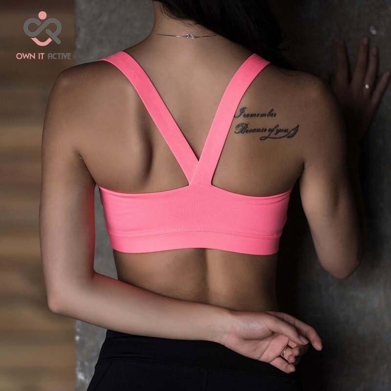 Prix pour Yoga tops soutien-gorge des femmes soutien-gorge de sport de remise en forme extensible tan nageur respirant de course tops p066