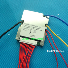48V e bike batterie au lithium BMS 13S 48V 20A BMS tension de charge 54.6V avec fonction déquilibre et interrupteur marche/arrêt BMS/PCM