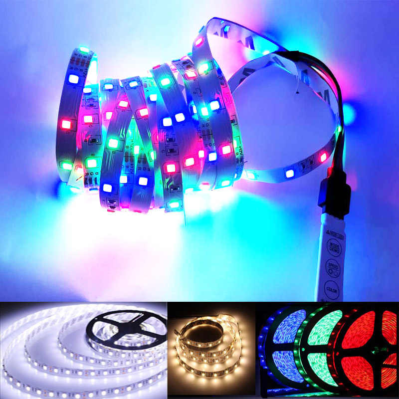 LED Strip Tahan Air 12 V 1 M 2 M 3 M 4 M 5 M 2835smd RGB LED Strip Lampu lampu Neon Pita Fleksibel