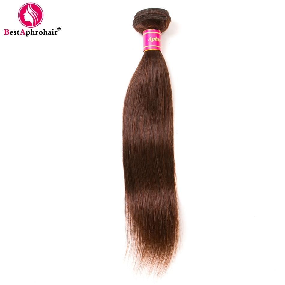 Aphro Hair Brazilian Straight Hair 1 Piece Non-Remy Hair Bundles 100% Human Hair Extensions 8-28 Free Shipping Light Brown #4