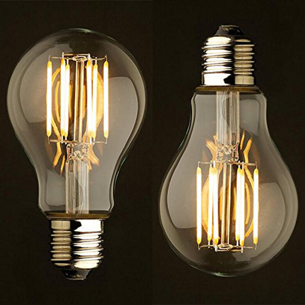 Vintage edison bulb old fashioned lamp classic a60 led 2w or 4w - 2w 4w 6w 8w Vintage Edison Incandescent Light Bulb A19 110v 220v Decorative Edison Lamp Filament Bulb For Lighting Decor