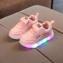 9683bdb24 Niños zapatos con luz 2019 nueva moda niños zapato luminoso brillante  zapatillas bebé niño niños niñas deportes zapatos