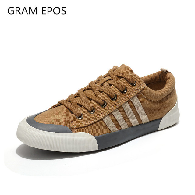 GRAM EPOS 2019 Unisex Canvas Shoes Men Casual Shoes Male Wear resistant Comfortable Round Toe Lace up sneakers zapatillas mujer