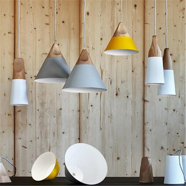 Moderne Kreative Italien Skrivo Hang Holz Aluminium Pendelleuchten ...