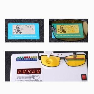 Image 5 - Gafas de sol fotocromáticas polarizadas rectangulares, gafas de sol fotocromáticas polarizadas con visión nocturna, 2019, gris, amarillo
