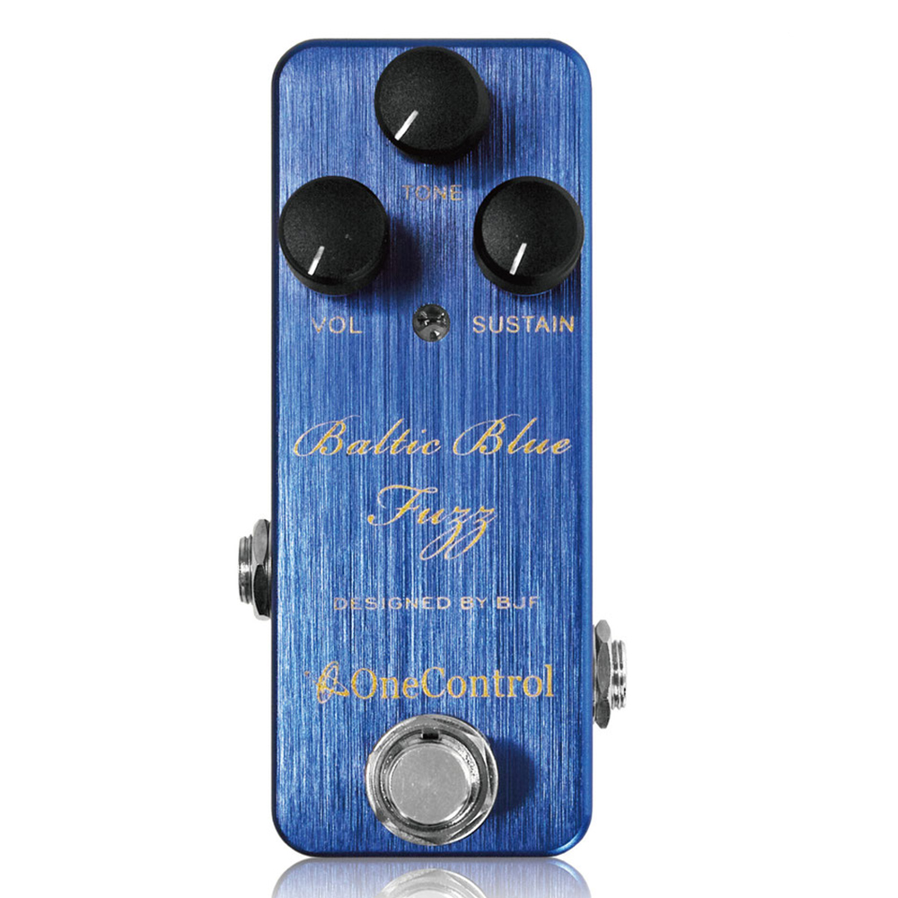 Japan One Control Baltic Blue Fuzz Pedal - Designed By BJF Guitar Effects Pedal True Bypass japan one control bjf little copper chorus guitar effect pedal