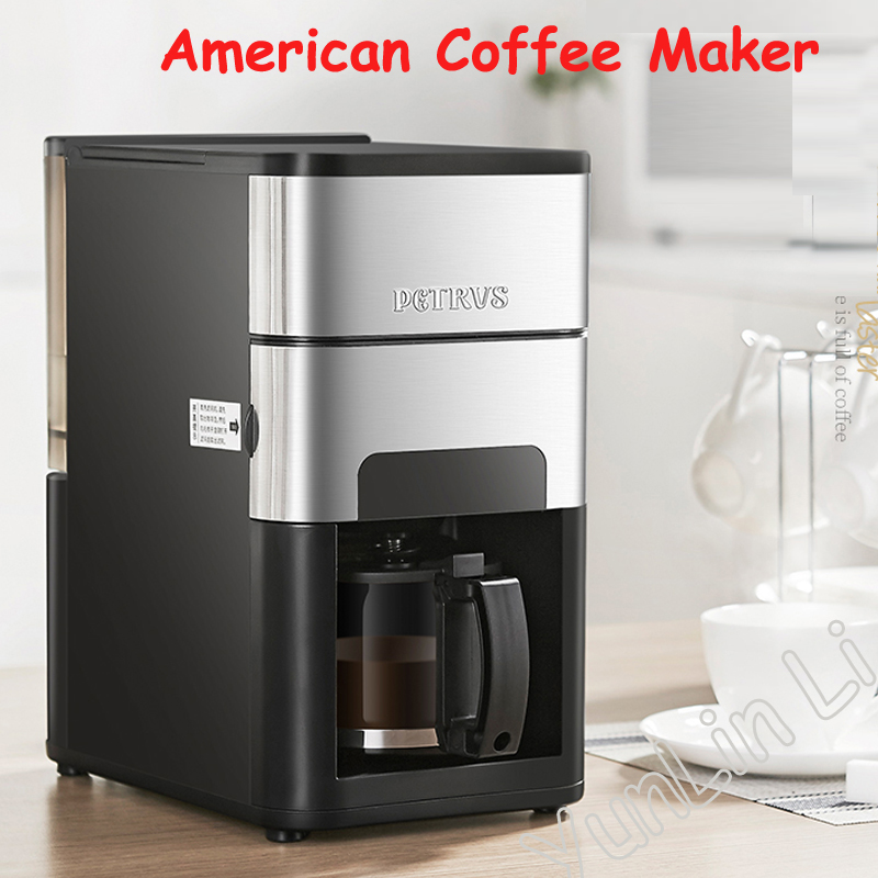 Full-automatic American Coffee Machine Coffee Bean Grinding Brewing Integrated Machine Coffee Maker PE3900 фото