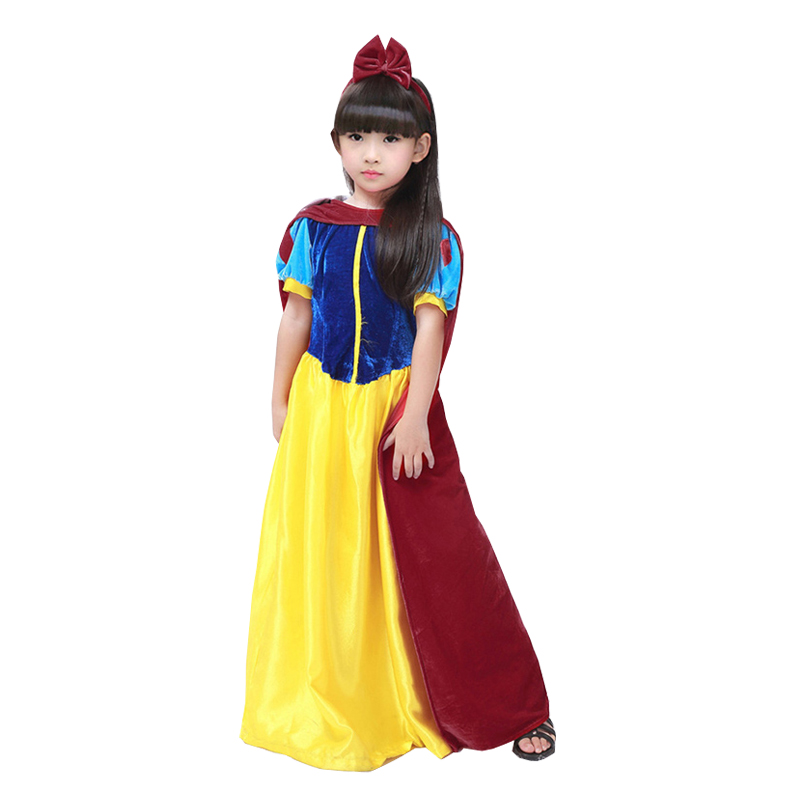 Children Cosplay Dress Snow White Girl Princess Dress Girls Kids Cartoon Princess Snow White Halloween Party Costume C097