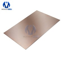 Tablero laminado con revestimiento de cobre, doble PCB, 1,5 MM de grosor, electrónico, bricolaje, 5 uds.