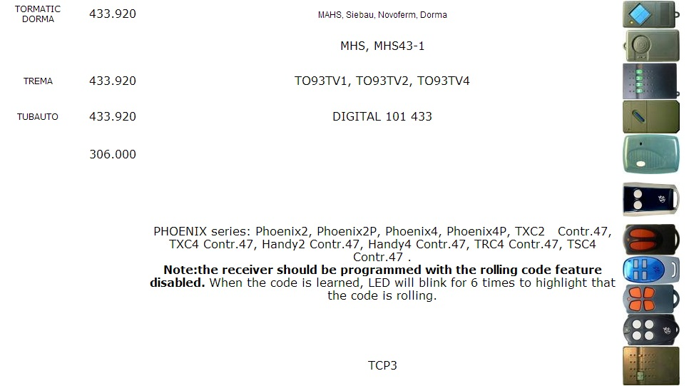 062170 4333ebd clonagem controle remoto duplicador substituição 433.92 mhz fob código fixo