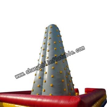 Dobrej jakości Competative nadmuchiwane klasy handlowej ściana wspinaczkowa z dmuchawy tanie i dobre opinie XZ-CW-032 Dziecko Good Quality Competative Inflatable Commercial Grade Climb Wall 0 5mmPVC L8m*W8m*H8m 110-220v Large Outdoor Inflatable Recreation