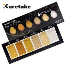 ZIG Kuretake GANSAI TAMBI Stellato/Perla/Gemma Colori Solido Vernici Metallic Gold Acquerello Pigmento Per Il Disegno Rifornimenti di Arte