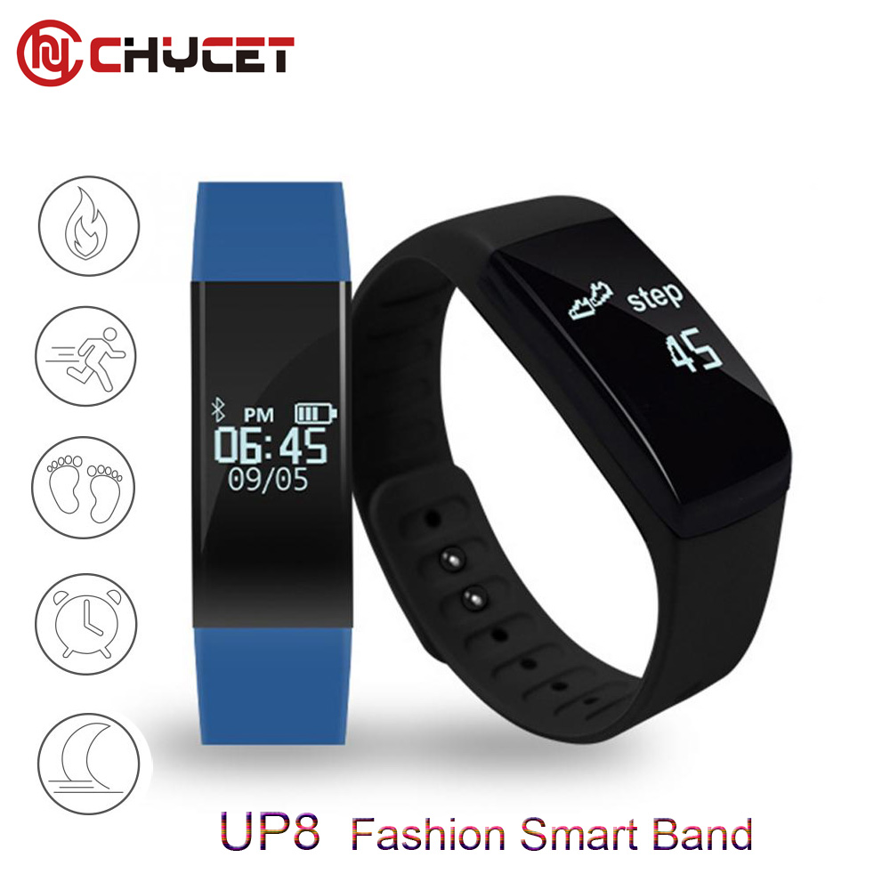 UP8 Bluetooth smart band Smart Bracelet Sleep Monitor Wristband Touchpad Passometer OLED Screen Call SMS Remind