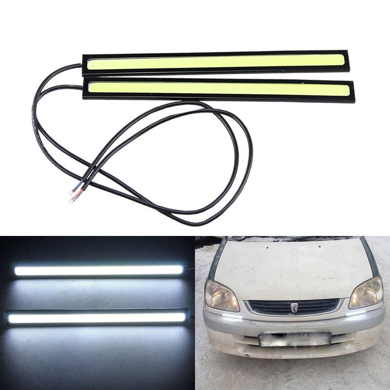 2Pcs/pair! Universal use LED COB DRL 12V Auto Car Daytime Running Lights Lamp 14cm 100% Waterproof Ultra Slim LED DRL Strip