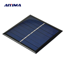 AIYIMA 1PC 1W 4V Solar Panel Board Battery Charger Energy Charging Charger Power bank for AA/AAA Rechargeable Battery