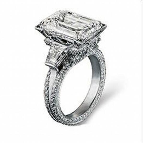 Taille 5-11 Chaude De Luxe choucong Bijoux 925 Sterling Argent AAA Zircon Cubique Simulé pierres De Mariage Tour Eiffel Femmes anneau