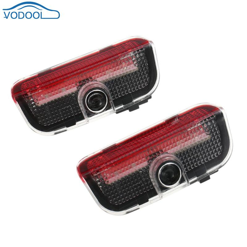 VODOOL 2pcs LED Car Decorative Light Vehicle Door Welcome Lighting Auto Projector Logo Courtesy Ghost Shadow Light Car-styling