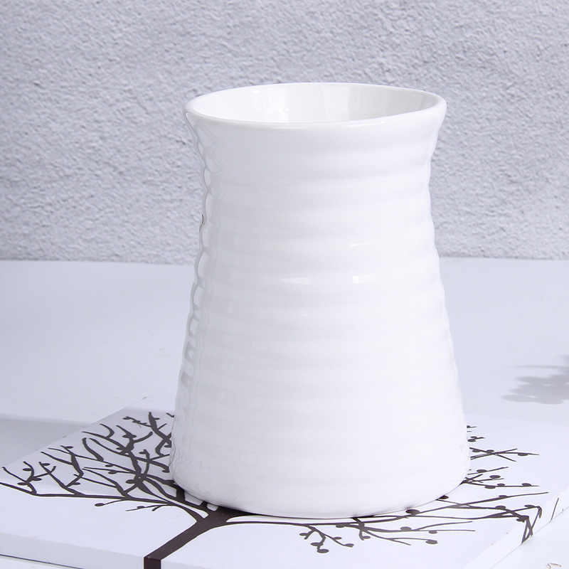 Cheap Classic White Ceramic Vase Modern Art and Crafts Decor Contracted Porcelain Flower Vase Creative Gift Household Decoration