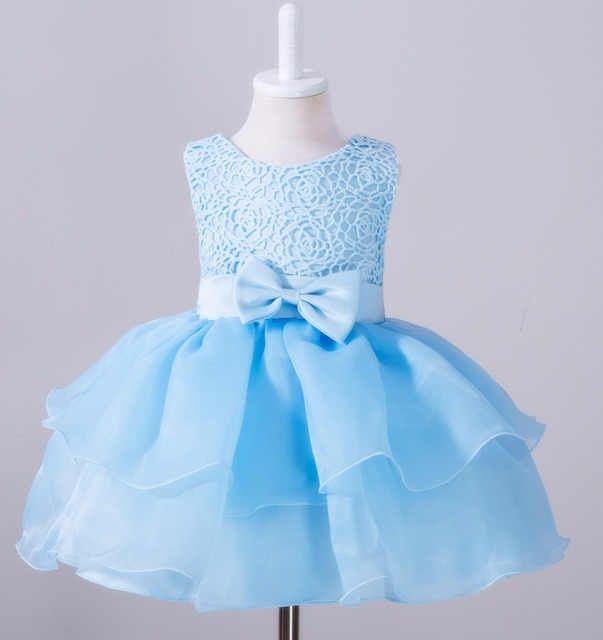 ab47e53a63a3b 2017 new Retail Fashion Formal Newborn Wedding Dress Baby Girl Bow Pattern  For Toddler Birthday Party Baptism Dress Clothes kids