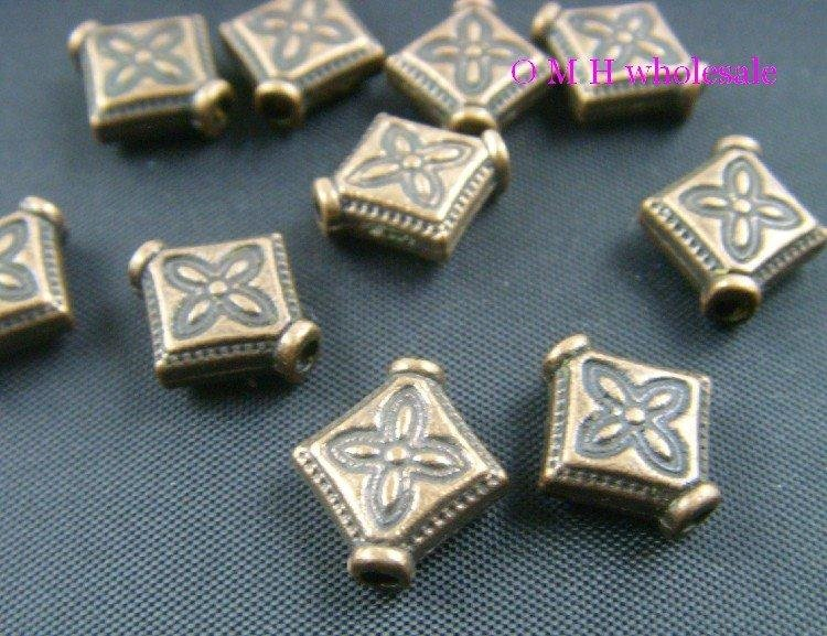 40//120pcs Tibetan silver//Gold flower Daisy Loose Charms Spacer Beads 8mm
