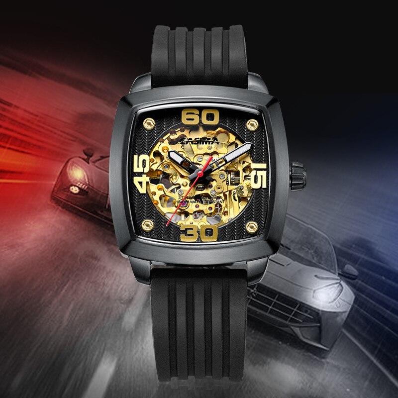 New design luxury brand watches men Automatic mechanical fashion business dress classic watch gold waterproof 100m CASIMA #6912