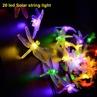 5SET 20 Led Solar Powered Outdoor Lights Decorations Blossom Solar Fairy Lights For Gardens Partys Garland