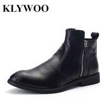Klywoo Новые ботинки Martin для Для мужчин осень-зима кожаные ботильоны Для мужчин модные британские ковбойские ботинки Повседневное Мужская обувь удобные