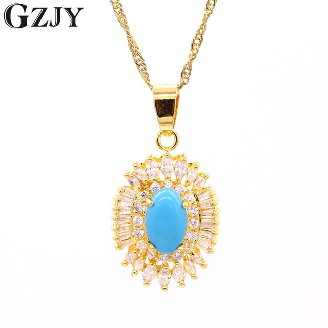 Gzjy charming yellow gold color red blue stone tiger eyes zircon gzjy charming yellow gold color red blue stone tiger eyes zircon pendants necklaces for women fashion aloadofball Image collections