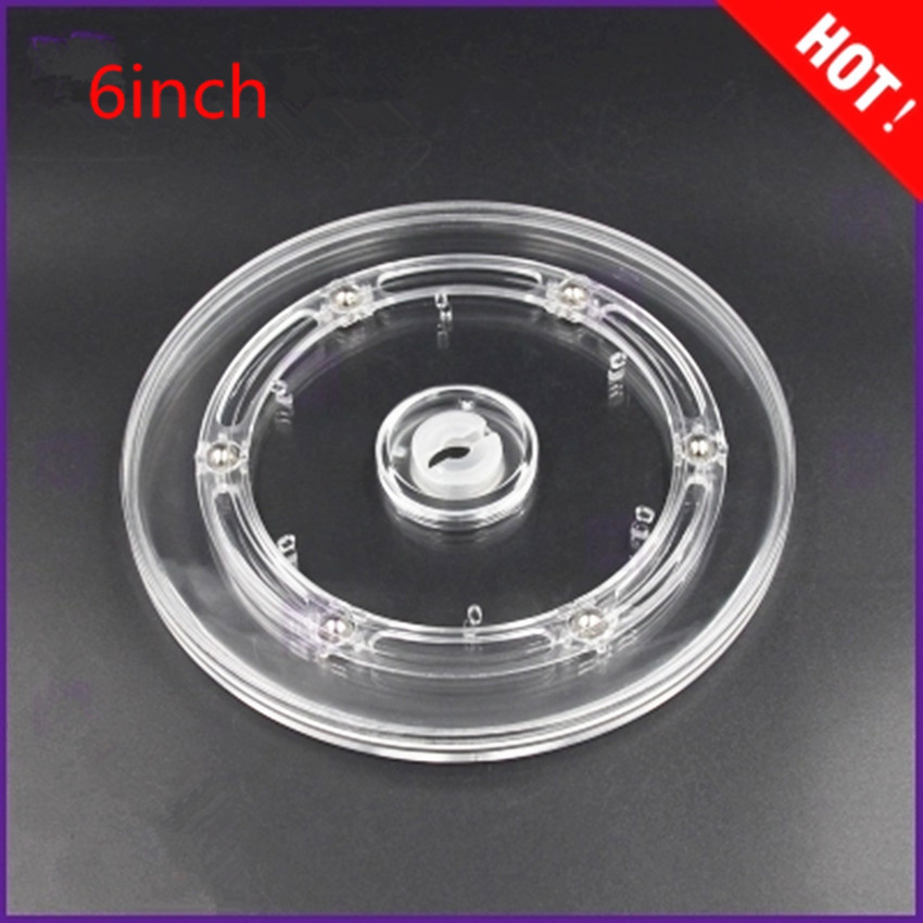 Diameter: 6inch Transparent Acrylic rotary  Lazy Susans turntable display rack rotating base swivel plate
