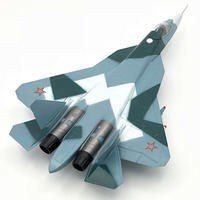 1:72 Scale aircraft Model T50 Su57 Jet hobby model plastic material Free Shipping