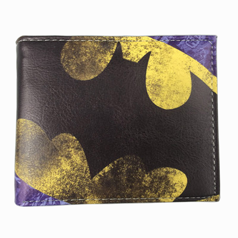 Comics DC Marvel Cartoon Anime Wallets Batman Superman Famous Brand Wallet Luxury Designs Leather Card Holder Purse cartera pokemon go print purse anime cartoon pikachu wallet pocket monster johnny turtle ibrahimovic zero pen pencil bag leather wallets