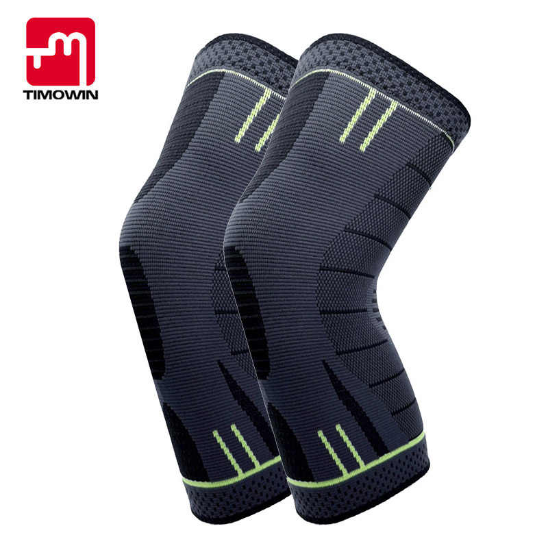 1 Pair Compression Knee Pads Support Kneepad TIMOWIN Brand Running Cycling Knee Sleeve for Sports And Arthritis Injury Recovery