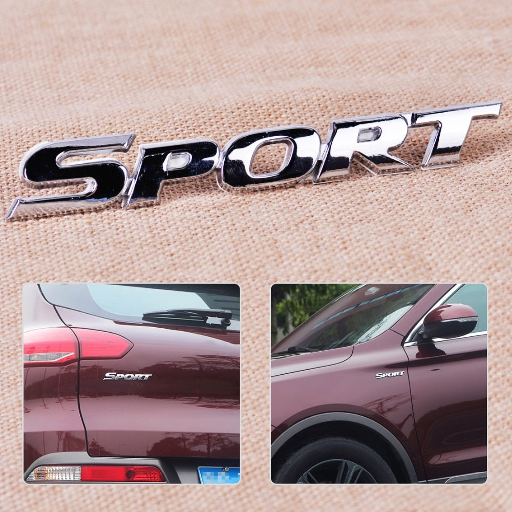 CITALL Car Styling Auto Racing Motorcycle Scooter 3D Logo Decal Silver Sport Emblem Word Letter Logo Emblem Badge Sticker high quality car styling front or back explorer sticker letters emblem logo for ford explorer badge emblem auto accessories