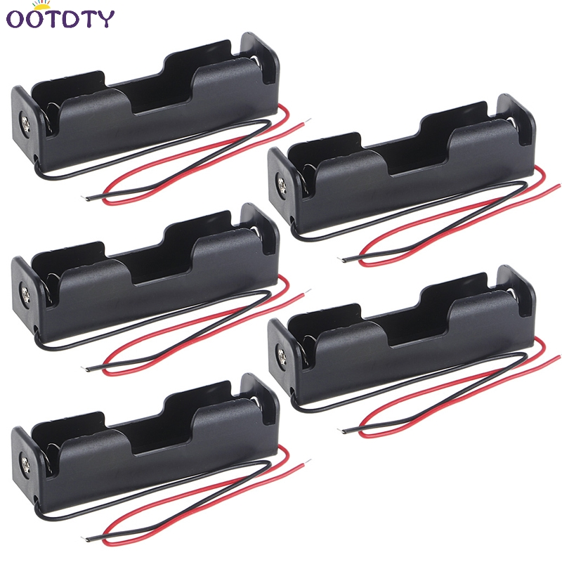 Battery Clip Holder 5 Pcs <font><b>3x18650</b></font> Rechargeable Battery 3.7V Clip Holder Box Case With Wire Lead image
